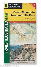 National Geographic Trails Illustrated Colo Green Mountain Res Ute Pass Map 107