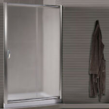 Box doccia nicchia porta 130 scorrevole bagno ante in cristallo 6 mm vetro opaco
