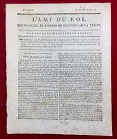 Dieudonné en 1791 Oise Mirabeau Duquesnoy Folleville L'ami du roi Royaliste