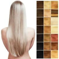 24 Inch Long Full Head Clip In Hair Extensions. 100% Real Remy Human Hair