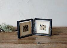 Tiny Folded Nkuku Black Double Picture Photo Frames Mini Danta Small Glass Gift