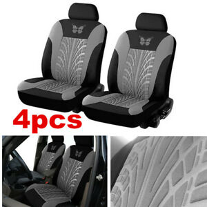 Car Front Seat Cover Black/Gray Universal Seat Cushion Protector Breathable Pad