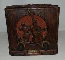 """DISNEY 1936 """"MICKEY MOUSE EMERSON TUBE RADIO"""" MODEL 411-EX! + RESTORED CHASSIS👍"""