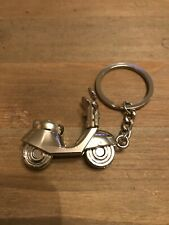 Keyring Keychain Quality Metal Cool Gift Vespa Scooter 3D Chrome