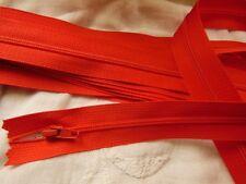 grande fermeture éclair 50 cm rouge orangé  non- séparable  robe