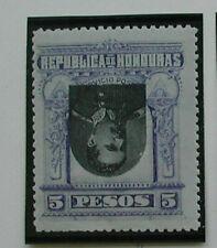 1891 Honduras Postage Stamp, Scott 63a,  5 Peso Purple Pres Bogran INVERTED