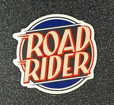 Road Rider Skateboard Sticker Heritage Logo circle 4in