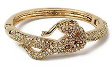 Hinged Cuff Bracelet Brc 5601 Amrita Singh Gold Snake Crystal