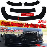Front Bumper Lip Body Spoiler For AUDI A4 A5 B6 B7 B8 B9 S3 S4 S5 RS5