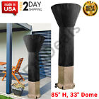 """Standup Patio Heater Cover Heaters Dome Waterproof Zipper Outdoor Round 85""""H 33"""""""