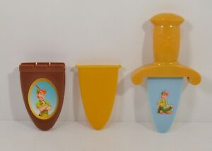 "RARE 2004 Peter Pan Dagger & Sheath 6.5"" McDonald's EUROPE Cosplay Toy Disney"