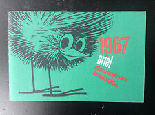 Ancien mini calendrier de poche Ariel tabacs 1967