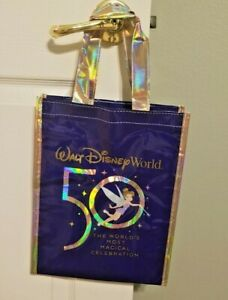 Walt Disney World - WDW 50th Anniversary Reusable Shopping Bag - Any of 3 sizes