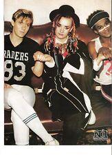 "BOY GEORGE (Culture Club) Boy Roy & Mikey magazine PHOTO / mini Poster 11x8"""