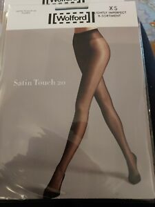 Wolford Satin Touch 20 Tights, XS, Iron Blue, Slight 2nd