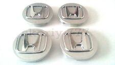 SET 4x58mm Honda Alloy SILVER Wheel Center Hub Caps ACCORD CIVIC TYPE R etc