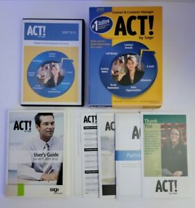 Act! By Sage 2007 Version 9 - Excellent Condition
