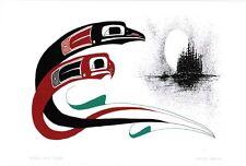 Raven and Eagle Danny Dennis Art Card Tsimshian Northwest Coast Native