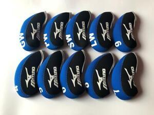 10PCS Golf Iron Covers R/H for Mizuno Club Headcovers 4-LW Blue&Black Universal