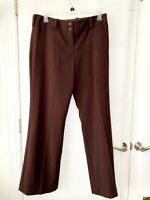 A.BYER Cambridge Womens Brown Wide Leg Stretch Career Pants Junior Size 15 - NWT