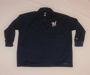 Milwaukee Brewers MLB Baseball Majestic Therma Base Jacket Size 3XL