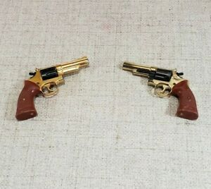 Vintage MARX Mini Cap Guns Goldtone Metal ~ Lot of 2