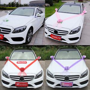 Organza Flower Ball Ribbon Kit Bows Garland Wrap Romantic Gift Car Wedding Decor