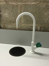 BROEN LABORATORY TAP SINGLE OUTLET SWIVEL SWAN NECK BENCH FITTING COMPLETE