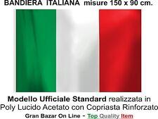 BANDIERA ITALIANA ITALIA cm.150 x 90 Tricolore Ufficiale Standard Italy Flag