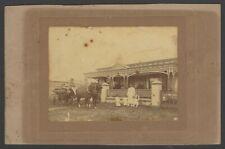 India cabinet photo Gujarati Muslim family & horse carriage