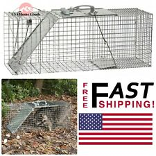 Large Easy Set Live Animal 1-Door Cage Trap Rust Resistant Rodent Control Trap