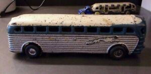 Vintage 1939 Arcade Cast Iron Greyhound Tour Bus Toy