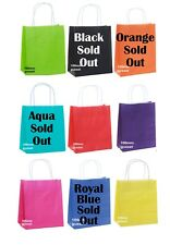 Coloured Kraft Paper Handled Loot / Party / Carry Bags 2 for $1.50 - Small