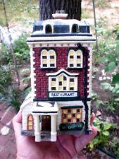 ELECTRIC Lighted BRICK RESTAURANT  Christmas House CORD & BULB MERCURIES USA #11