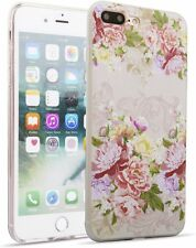 Vintage Flowers Phone Case Compatible with iPhone 7 & 8 Plus. Clear TPU