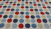 Fryetts Helix Blue Circles Spots Curtain Craft Upholstery Designer Fabric