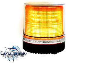 ROUND AMBER 10 LED MAGNETIC FLASHING LED LIGHT WARNING SECURITY EMERGENCY LED013