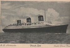 CGT FRENCH LINE SS NORMANDIE Unused Postcard