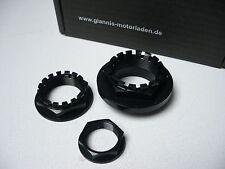 Ducati Radmutter-Kit 3-tlg. schwarz eloxiert, 916 Monster 1100 MTS 1000 SBK 748