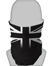 BLACK  & WHITE UNION JACK DESIGN NECKTUBE SCARF FACE MASK NECK WARMER SNOOD