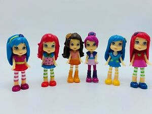 Strawberry Shortcake 6 Piece Figures 3 Inches Tall Perfect for Cake Toppers