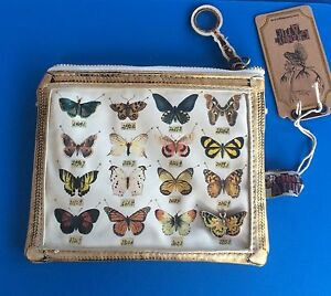 Cosmetic Make Up Bag /Purse ~ Butterfly - Vintage Style. Last One