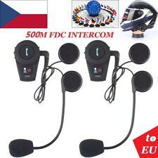 2x Motorrad Bluetooth Gegensprechanlage 500m Sprechanlage Helm Intercom Headset
