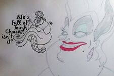 Inspired by The Little Mermaid Wall Decal Sticker Ursula Tough Choices