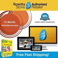 Rosetta Stone® LEARN ENGLISH HOMESCHOOL 12 Month 1 2 3 4 5 +Printable Workbooks!