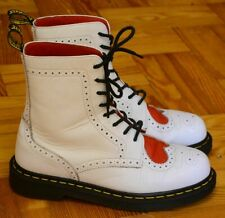 Dr Martens, White weeding Shoes, Red Heart Size 6.5, EU 40