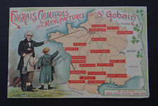 CPA carte publicitaire Engrais chimiques des manufactures Saint-Gobain Bordeaux