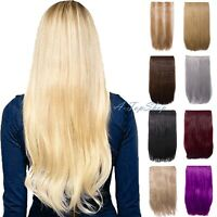 Straight One Piece Strip Clip in Hair Extension in 18'' & 24'' Heat Resistant