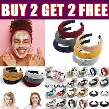 Women's Soft Headband Alice Band Top Knot Fashion Headbands Twist Hairband AU