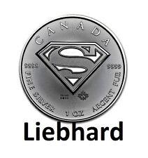5 $canadá/Canada plata/Silver Superman 2016 1 Oz